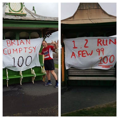 Brian Cumpsty's 100th marathon